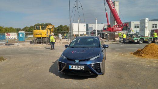Aufbau der Hertener H2-Tankstelle durch die H2Mobility GmbH Berlin. Ein weiterer Schritt zu einer umweltfreundlichen Mobilität.