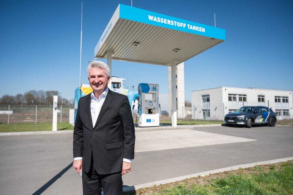 Andreas Pinkwart, NRW-Minister für Wirtschaft, Innovation, Digitalisierung und Energie besuchte bei seinem Wasserstofftag auch Herten. Copyright-Hinweis: MWIDE NRW/M. Hermenau